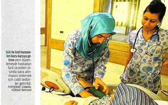 Zaman – Yeni Yaptırımlar Bakanlıkla Özel Hastaneleri Karşı Karşıya Getirdi 16.01.2012