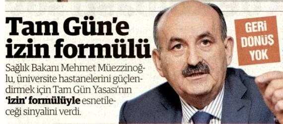 Yenişafak – Tam Gün'e İzin Formülü 15.03.2013