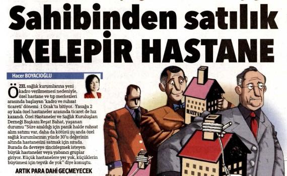 Hürriyet – Sahibinden Satılık Kelepir Hastane 24.10.2013