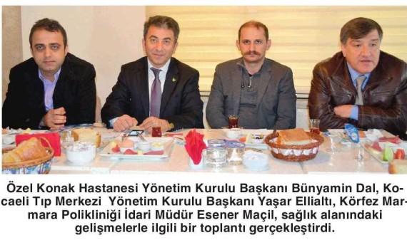 Bizimkocaeli – İzmit, Sağlık Turizminde Cazibe Merkezi Olacak 14.12.2013