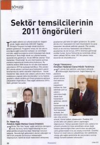 Ekonomist Ek - Sektör Temsilcilerinin 2011 Öngörüleri