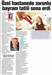 Habertürk Ekonomi - Özel Hastanede Zorunlu Bayram Tatili