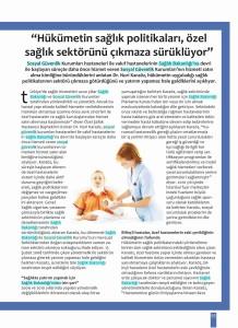 Kobilife - Hukümetin Sağlık Politikaları Özel Sağlık Sektörü