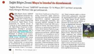 Medikal Plus - Sağlık Bilişim Zirvesi Mayısta İstanbul'da