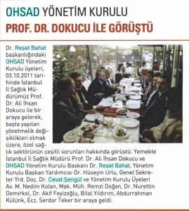 Medikal Plus - OHSAD Yönetim Kurulu Prof. Dr. Dokucu İle Görüştü