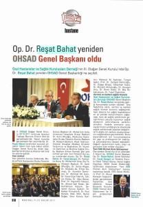 Medikal Plus - Op. Dr. Reşat Bahat Yeniden OHSAD Genel Başkanı