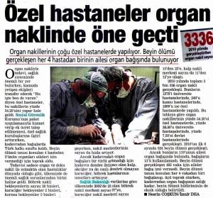 Posta Ege - Özel Hastaneler Organ Naklinde Öne Geçti