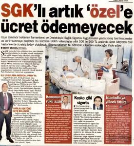 SGK'lı Artık Özel'e Ücret Ödemeyecek