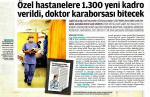 Zaman - Özel Hastanelere Yeni Kadro Verildi