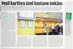 Zaman - Yeşil Kartlıya Özel Hastane İmkanı