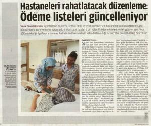 Hastaneleri Rahatlatacak Düzenleme
