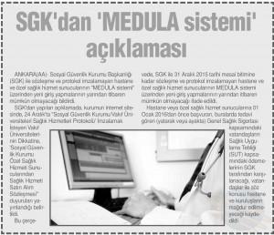 TÜNAYDIN  SGK DAN MEDULA SİSTEMİ AÇIKLAMASI 03.01.2016
