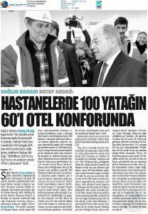 Türkiye Gazetesi - Hastanelerde 100 Yatağın 60'ı Otel Konforunda