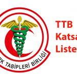 TTB Katsayı Listesi