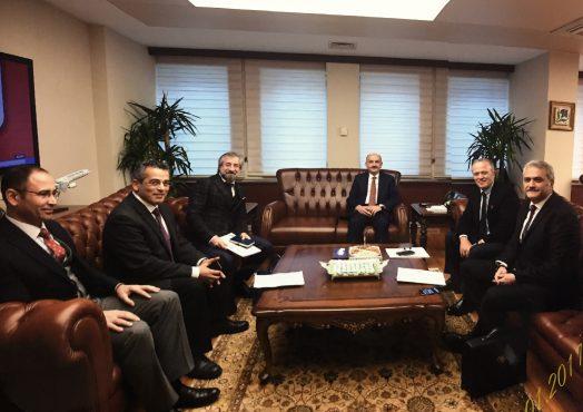 Çalışma ve Sosyal Güvenlik Bakanımız Dr. Mehmet Müezzinoğlu ziyareti