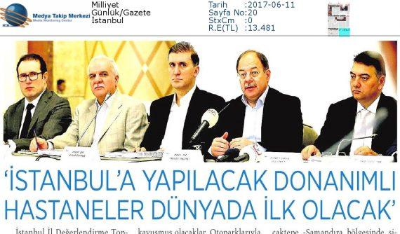 Milliyet – İstanbul'a Yapılacak Donanımlı Hastaneler Dünyada İlk Olacak – 11 Haziran 2016