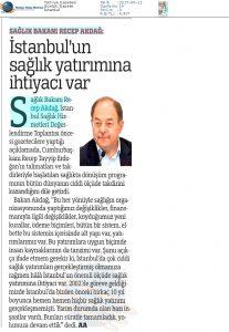 Türkiye - İstanbul'un Sağlık Yatırımına İhtiyacı Var