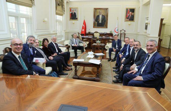 OHSAD Yönetim Kurulu Sağlık Bakanı Dr. Ahmet Demircan'ı Ziyaret Etti