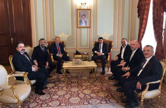 OHSAD Yönetimi İstanbul Valisi Vasip Şahin'i Makamında Ziyaret Etti