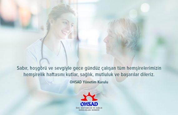 Tüm Hemşirelerimize Sağlık, Mutluluk ve Başarılar Dileriz