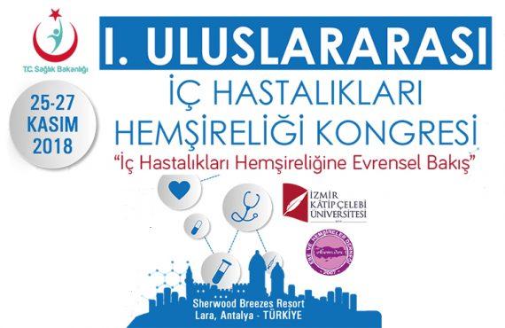 1.Uluslararası İç Hastalıkları Hemşireliği Kongresi Kasım'da