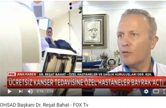Reşat Bahat kanser tedavisine ilişkin Fox Ana Haber'e konuştu
