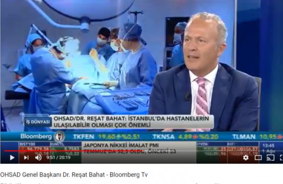 Reşat Bahat Bloomberg TV'de Sağlık Yatırımları ve Maliyetleri Konuştu