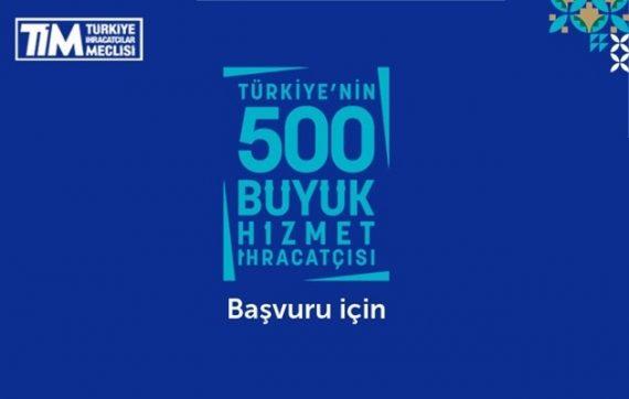Türkiye'nin 500 Hizmet İhracatçısı Araştırması için Başvuru Süresi Uzatıldı