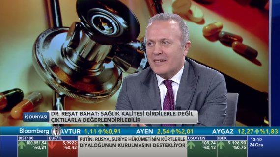 Dr. Reşat BAHAT Bloomberg TV'de yayınlanan İş Dünyası Programına Konuk Oldu