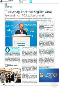 Türkiye Sağlık Sektörü 'Sağlıkta Ortak Gelecek' için 10. Kez Buluşacak