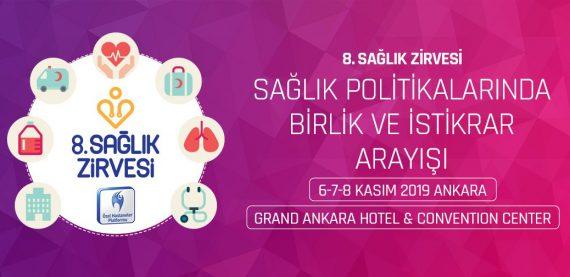 8. Sağlık Zirvesi, 6-8 Kasım Tarihleri Arasında Düzenlenecek