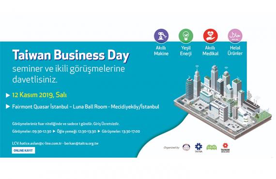 Taiwan Business Day, 12 Kasım'da İstanbul'da Düzenlenecek