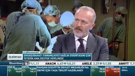 Genel Başkanımız Dr. Reşat Bahat'ın Bloomberg HT Kanalındaki Röportajı