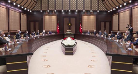 Cumhurbaşkanımız Sn. Recep Tayyip ERDOĞAN Derneğimiz Yönetim Kurulu'nu Kabul Etti